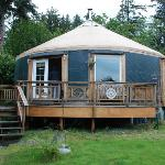 Adorable Yurt with lovely deck