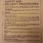 Safety Info on Nightstand