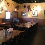 Typical of other Montana Mike's stores, the interior features a lodge motif.