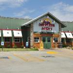 South elevation of Montana Mike's in Clinton. The restaurant faces a Hampton Inn.