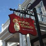  Sign on front of chocolate shop, Rue Begin