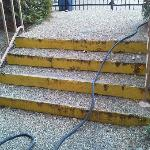 Peeling Steps to Pool Area