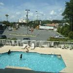  Pool area right out our window, Holiday Inn Express just to the left in the picture