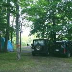  campsites overlooking pond