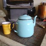  Warm log burner, comfy couches and great tea pots!