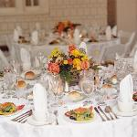 An outside catering function setting