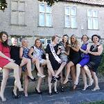 Girls enjoying the manor house!