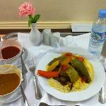 The lamb couscous from room service