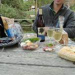 Picnic spread (wine we bought separately)