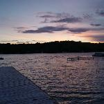  the start of sunset on the dock