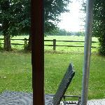 view from main bedroom - its own patio and furniture