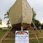 A restoration project by the Museum. A 45' wooden leeboard ketch.
