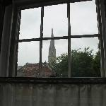 The view of Salisbury Cathedral from our bedroom