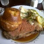 Prime Rib, mashed potatoes and homemade popover!!!