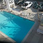 This is a beautiful pictuer of the pool area