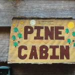 Sign on the cabin