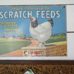 Sign in the farm store