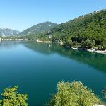  View of Lake Scanno from path behind hotel - similar to view from our room