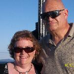  Lori &amp; Charlie,No Attleboro,MA on Mt Washington Cruise while staying at Bartlett Inn