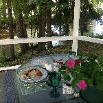 Breakfast at the gazebo.