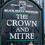 The Crown and Mitre sign