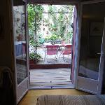  Chambre donnant directement sur le patio