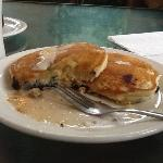  home made blueberry pancakes