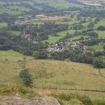view of edale from hill tops
