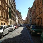 the street the hotel is on, you can catch the tram at the top of here & go straight into the cen