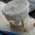 Balcony furniture falling a part - bring your own