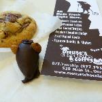  My scrap cookie and marizpan mouse - YUM