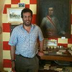 Our courteous host at Castello di Ripa d'Orcia (in reception area)