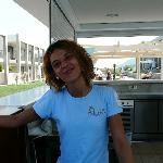 This is ever smiling Lina, our pool bar tender