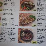 Excelent menu with photos of all dishes