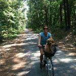 Ann and Rusty enjoying a Breakwater Trail bikeride!