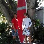 Aaron Osters, owner and Ted Sweet, general manager of Florida keys Kiteboarding, LLC