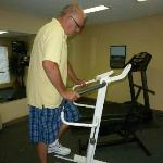  Using the exercise equipment in the fitness room