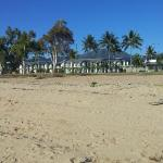 View of the motel from the beach