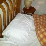  The state of the pillows when we arrived... Blood stained!