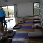 Yoga and breathing exercises gym