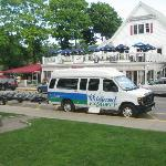 Free bicycle shuttle Bar Harbor