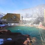 A sunny, snowy day at The Giggling Springs
