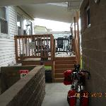 Back deck, Bike storeage