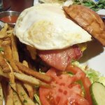 Cheeseburger add a fried egg - what the heck - add two!