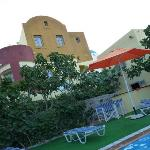  hotel &amp; pool area