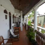 Another view of the upper floor balcony at the Beach Haven Guest House