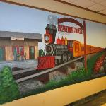 Mural outside the Valley Junction Restaurant in hotel
