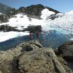 Swimming in Glacier water