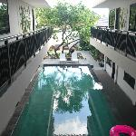  pool viewed outside the hotel room