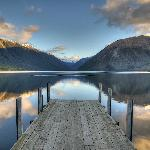 Stunning Lake Rotoiti, a short walk from Alpine Lodge